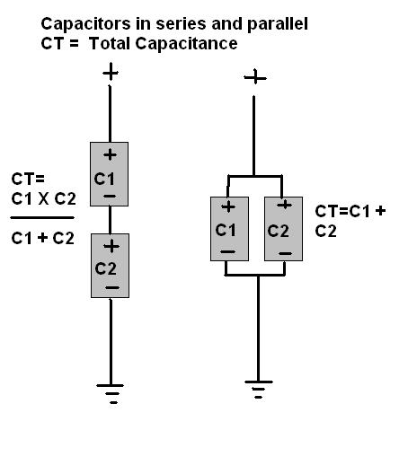 solving capacitance in series and parallel