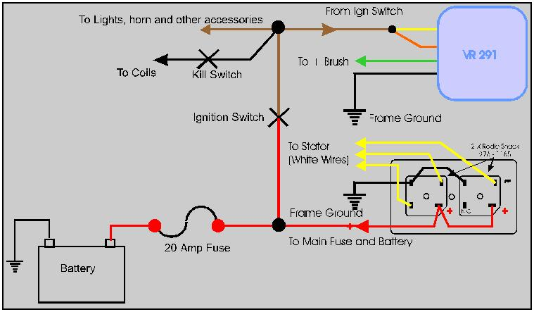 solid state regulator welcome to the xs garage usa here is another wiring diagram for the reg rect hope it makes it more understandable