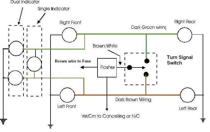 wiring diagram for turn signal flasher wiring help turn signal wiring yamaha xs650 forum on wiring diagram for turn signal flasher