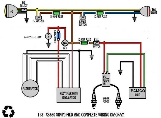 wiring10 electrical question yamaha xs650 forum 2003 yamaha banshee headlight wiring diagram at fashall.co