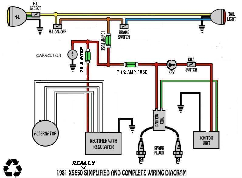 xswire1 wiring diagram question about fuses welcome to the xs 650 garage usa mutant amp wiring diagram at n-0.co